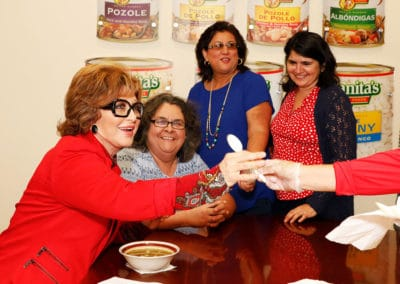 Angelica Maria with media partners enjoying a delicious bowl of Juanita's Menudo