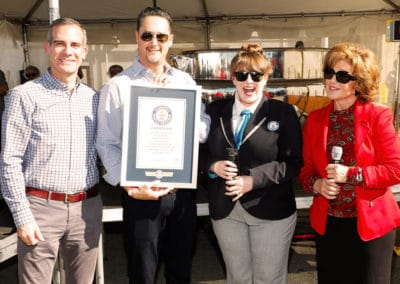 Receiving the Guinness World Record Certificate. Juanita's is officially awesome!