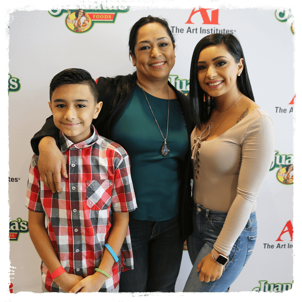 Josefina Salinas and her family