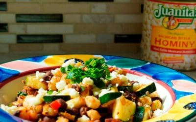 Hominy & Black Bean Stir Fry