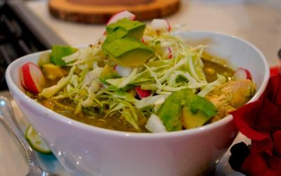Homemade Green Chicken Pozole