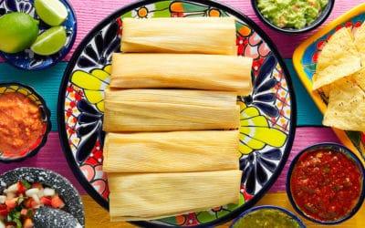 Tamales de Puerco en Chile Verde