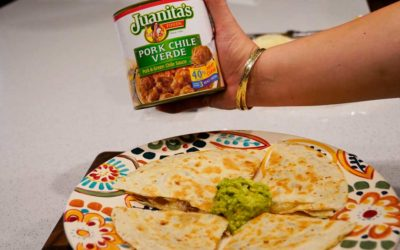Pork Chile Verde Quesadillas